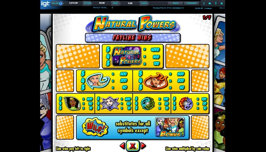 natural powers slot slot machine detail image 1