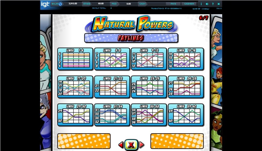 natural powers slot slot machine detail image 3