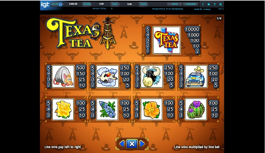 texas tea slot slot machine detail image 3