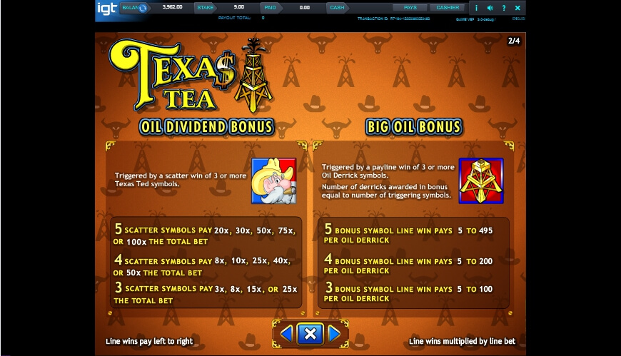 texas tea slot slot machine detail image 1