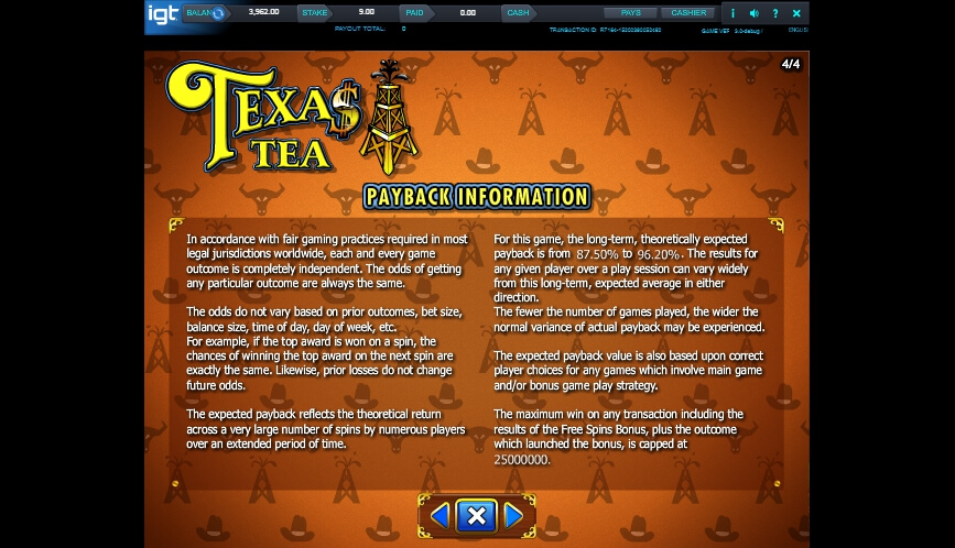 texas tea slot slot machine detail image 0