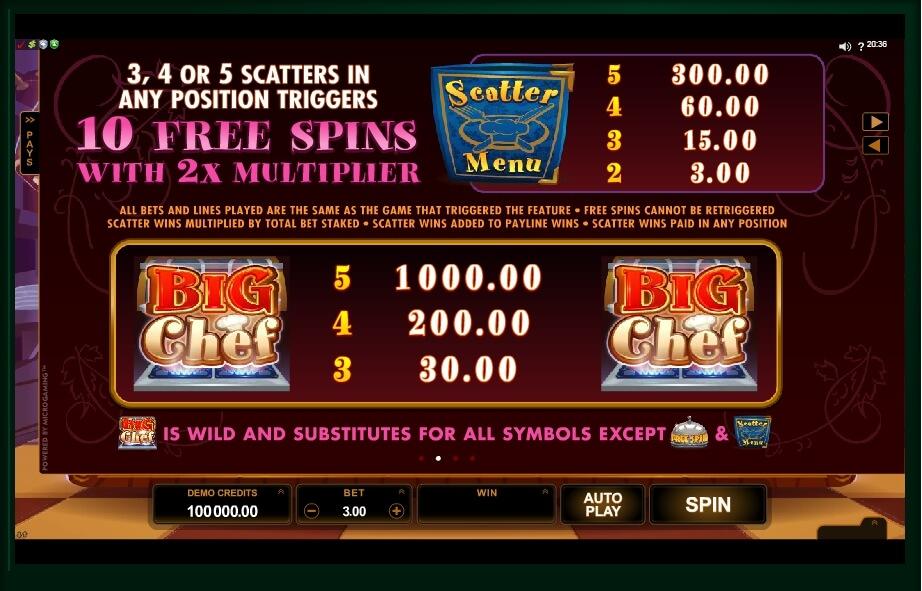 big chef slot slot machine detail image 1