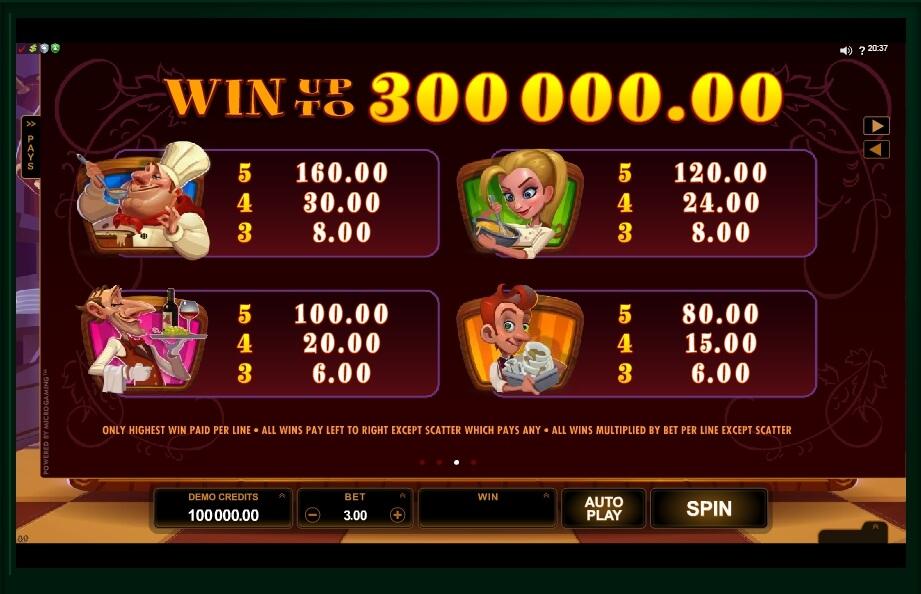 big chef slot slot machine detail image 2