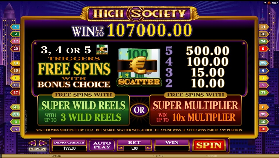 high society slot slot machine detail image 2
