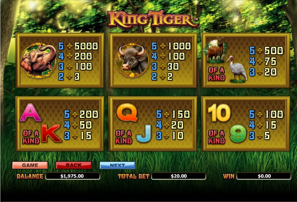 king tiger slot slot machine detail image 4