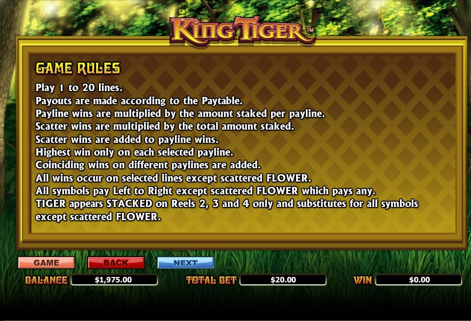 king tiger slot slot machine detail image 0