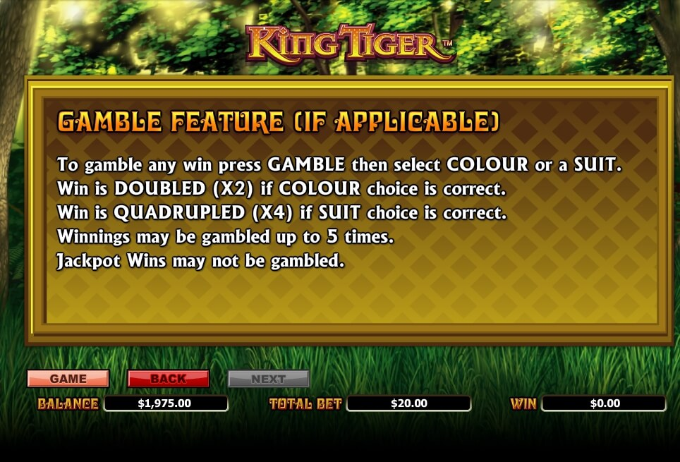 king tiger slot slot machine detail image 2
