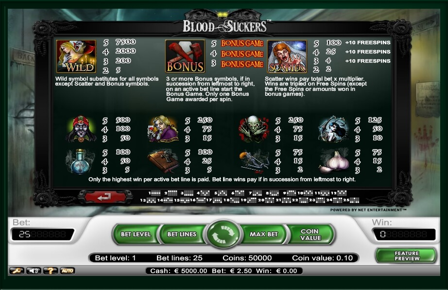 blood suckers slot slot machine detail image 0