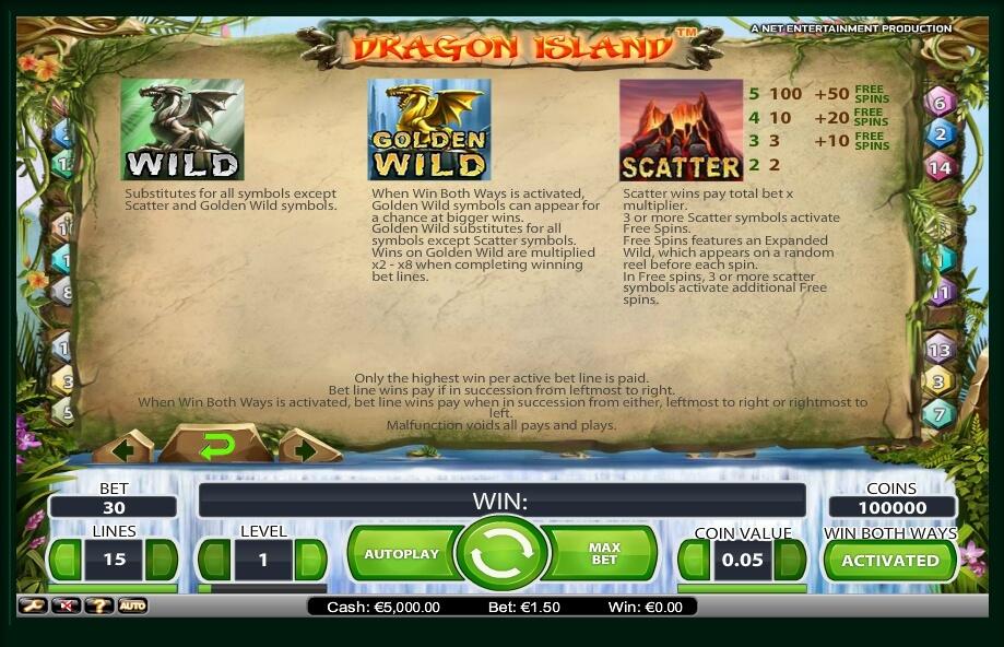 dragon island slot slot machine detail image 0