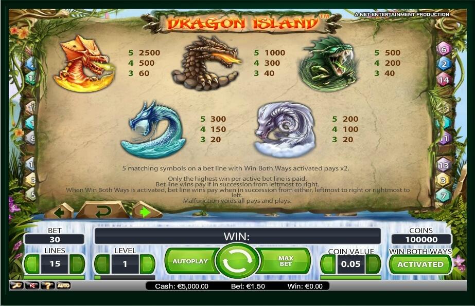 dragon island slot slot machine detail image 1