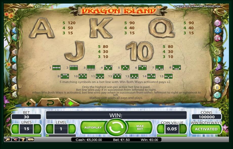 dragon island slot slot machine detail image 2