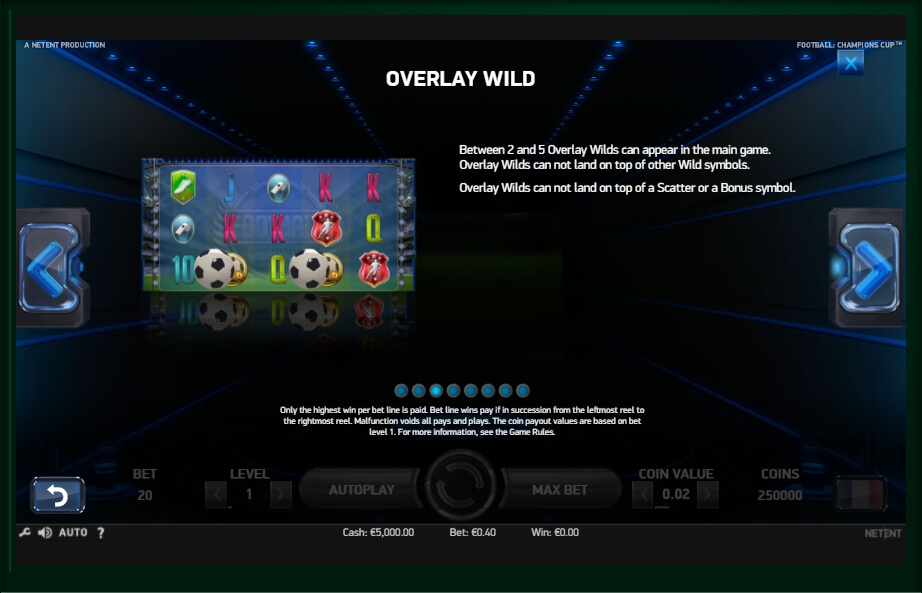 football: champions cup slot machine detail image 4
