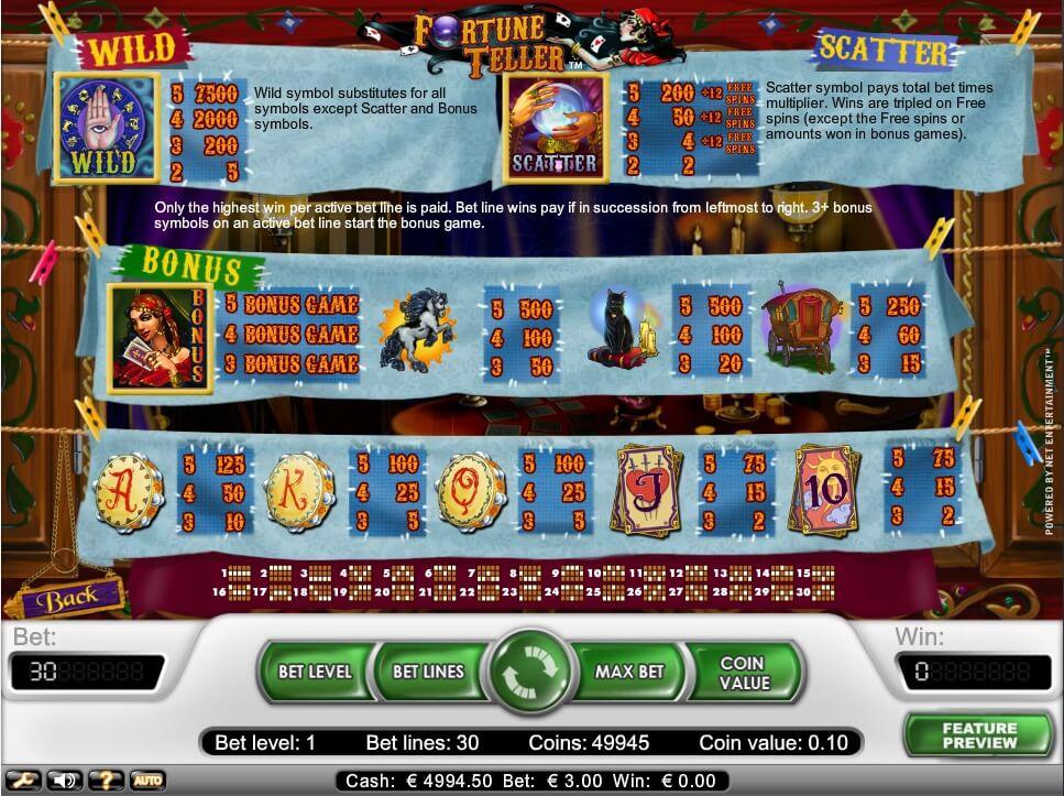 fortune teller slot slot machine detail image 0