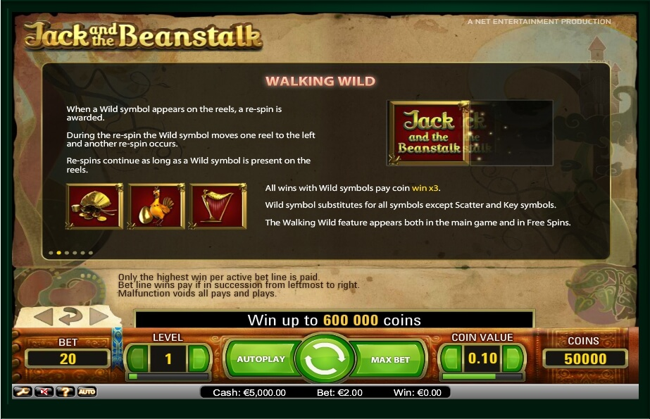 jack and the beanstalk slot slot machine detail image 2