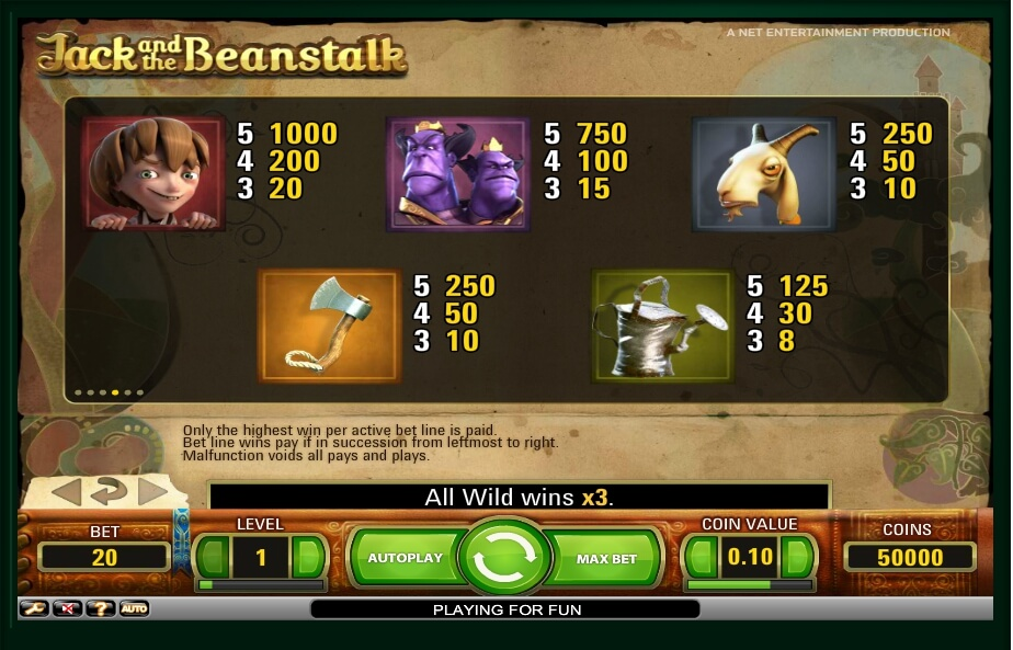 jack and the beanstalk slot slot machine detail image 3