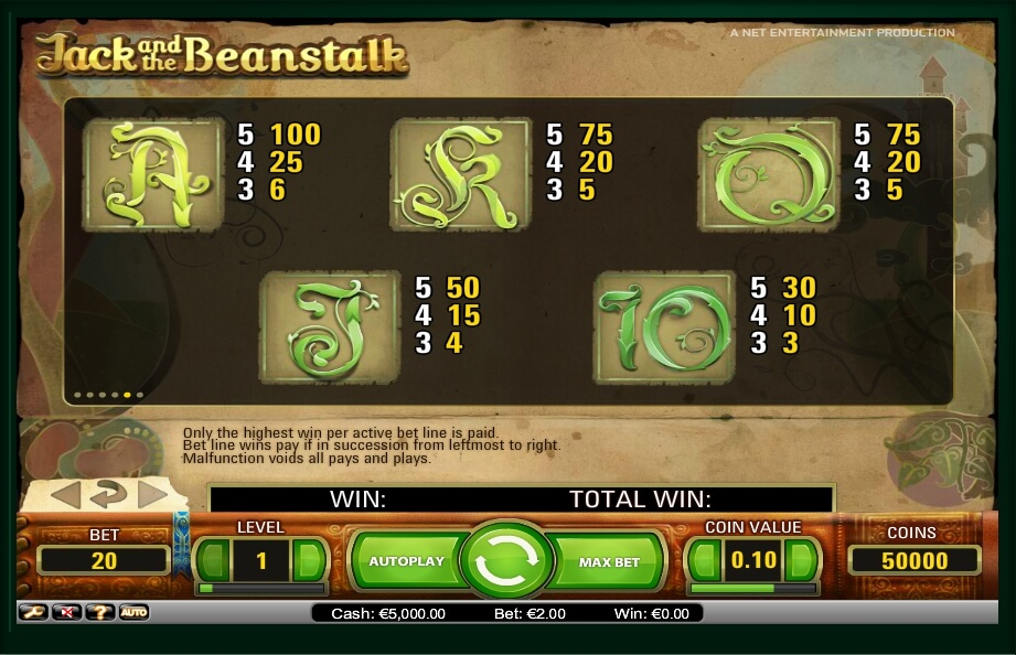 jack and the beanstalk slot slot machine detail image 1