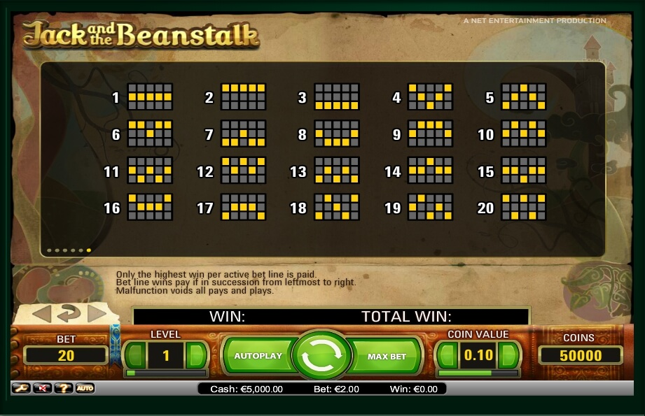 jack and the beanstalk slot slot machine detail image 4