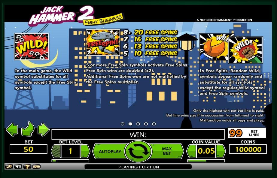 jack hammer 2 slot machine detail image 1
