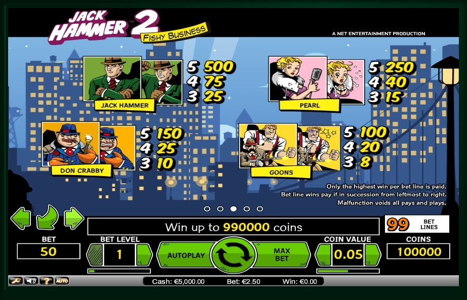 jack hammer 2 slot machine detail image 3