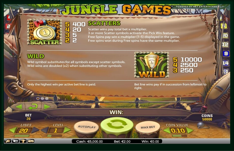 jungle games slot slot machine detail image 1