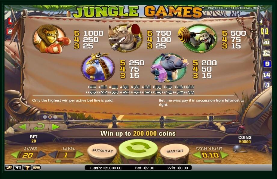 jungle games slot slot machine detail image 0