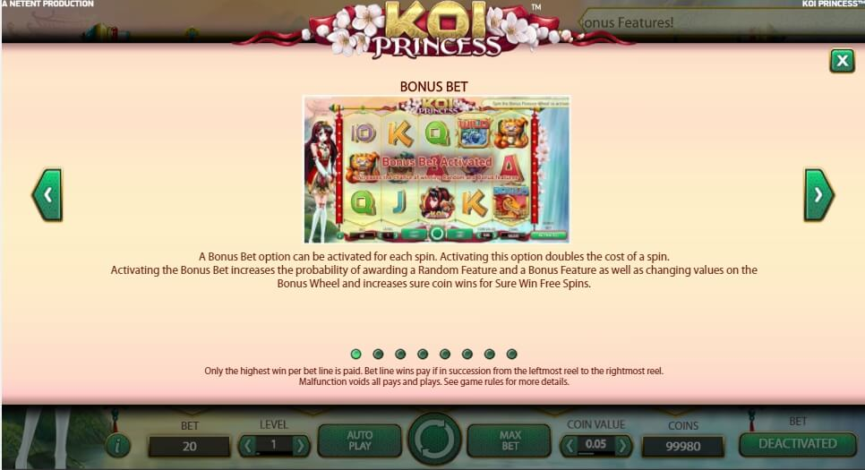 koi princess slot slot machine detail image 2