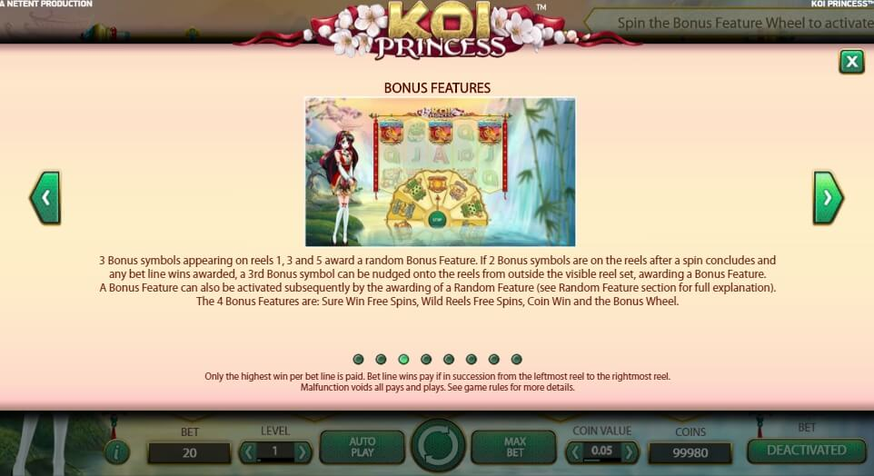 koi princess slot slot machine detail image 5