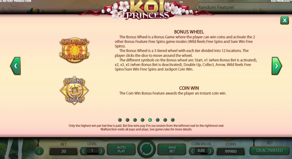 koi princess slot slot machine detail image 3