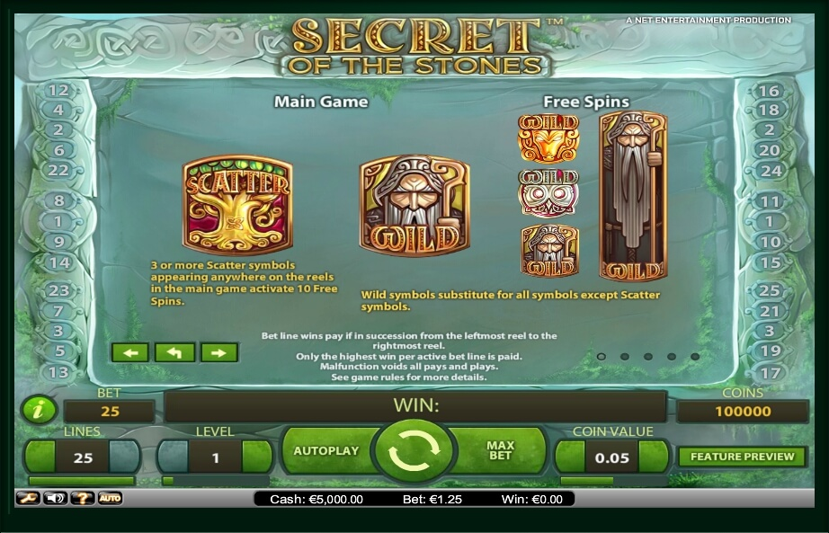 secret of the stones slot slot machine detail image 2