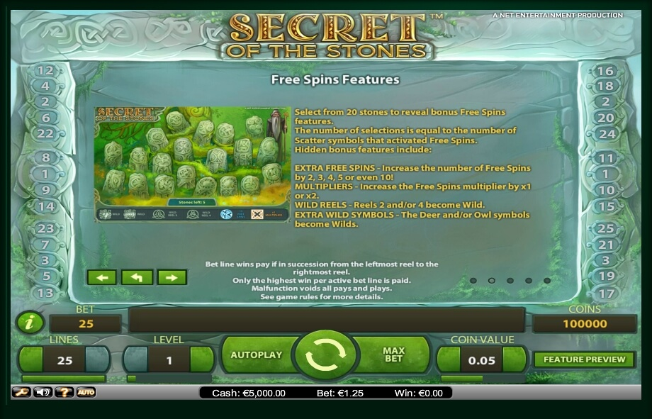 secret of the stones slot slot machine detail image 1