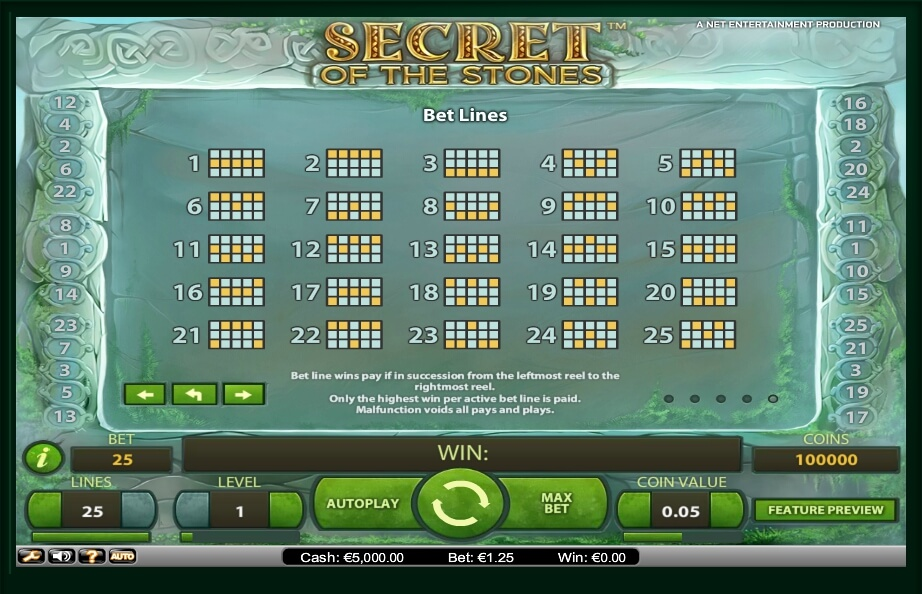 secret of the stones slot slot machine detail image 3