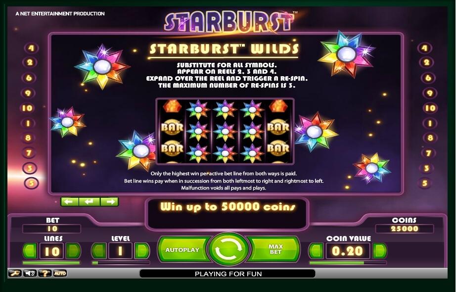 starburst slot slot machine detail image 0