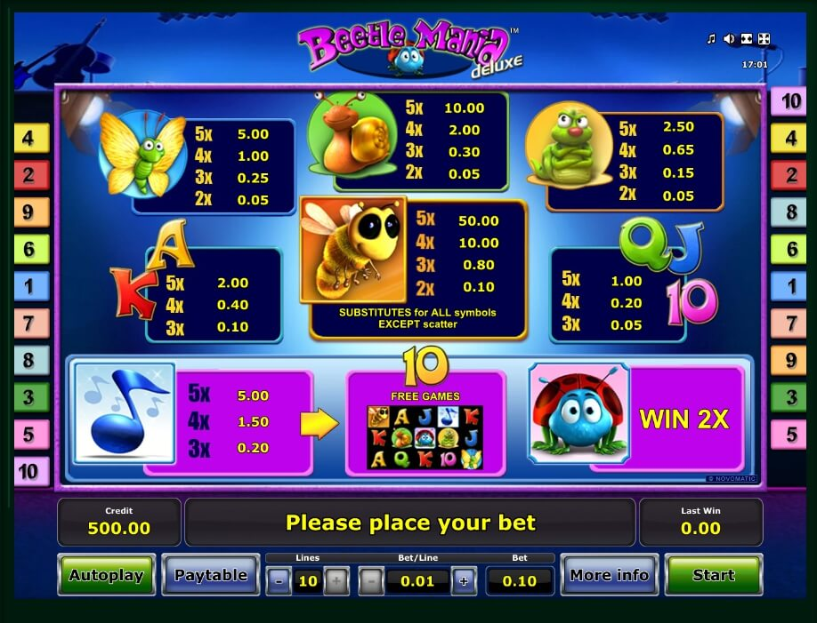 beetle mania deluxe slot slot machine detail image 0