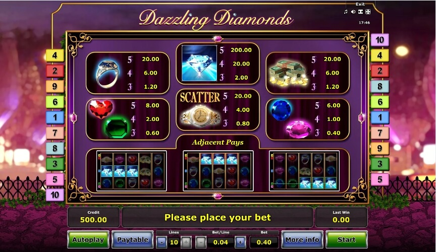 dazzling diamonds slot slot machine detail image 0