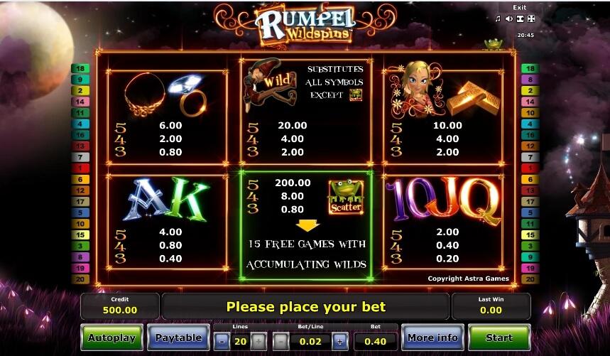 rumpel wildspins slot slot machine detail image 0
