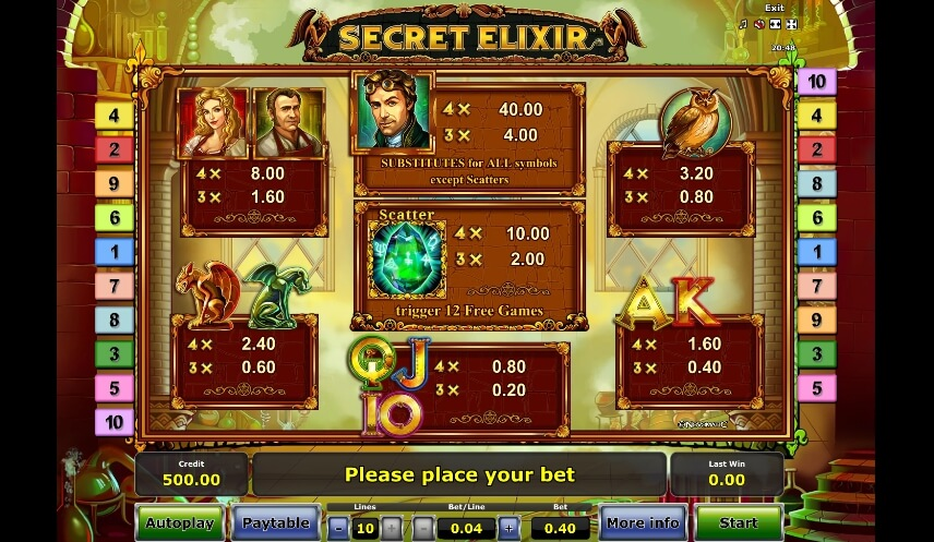 secret elixir slot slot machine detail image 0