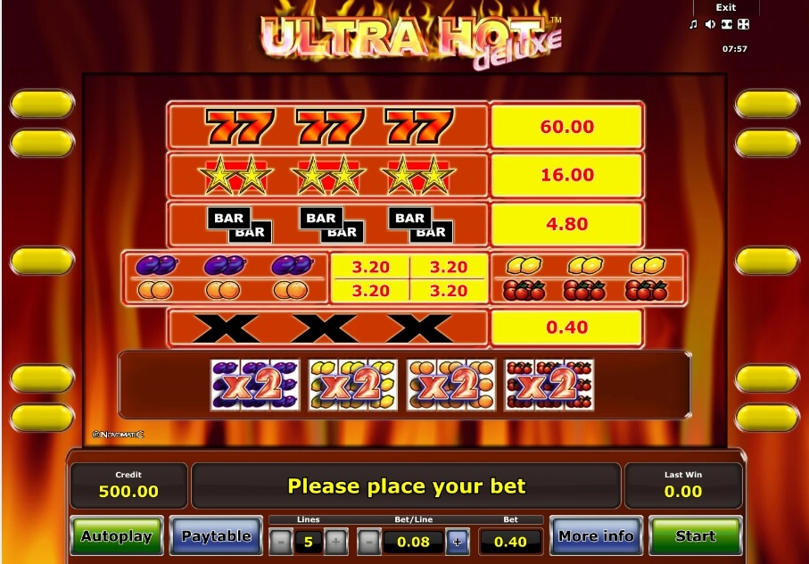 ultra hot deluxe slot slot machine detail image 0