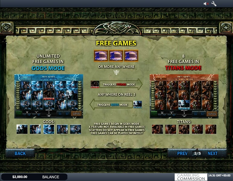 battle of the gods slot slot machine detail image 1