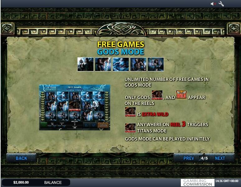 battle of the gods slot slot machine detail image 2
