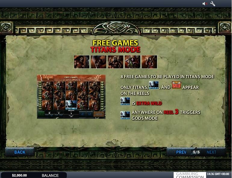 battle of the gods slot slot machine detail image 4