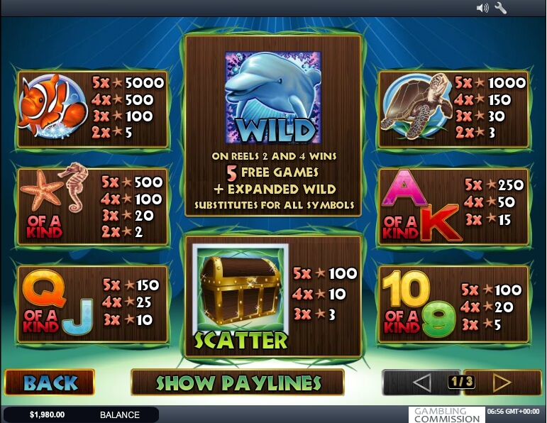 dolphin reef slot slot machine detail image 0