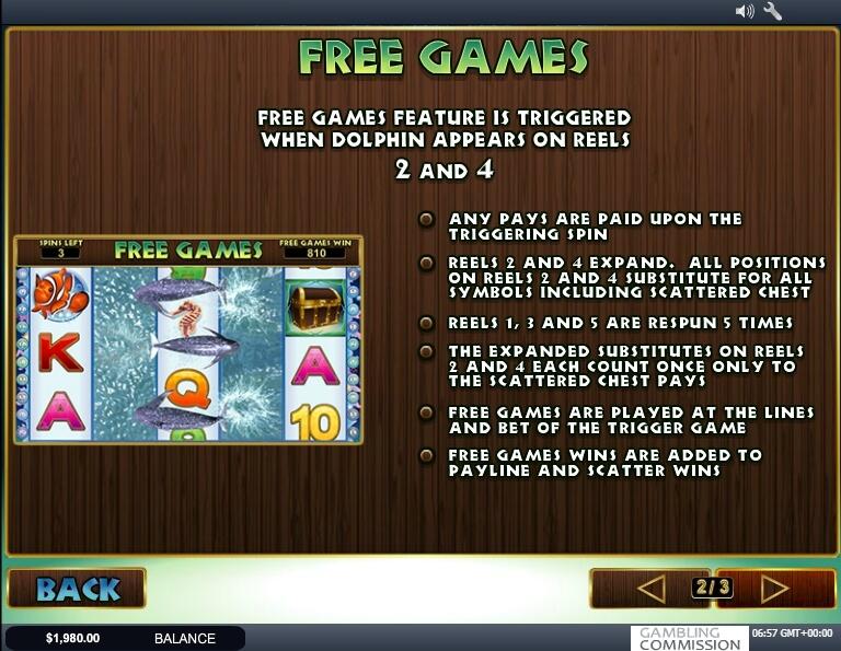 dolphin reef slot slot machine detail image 1