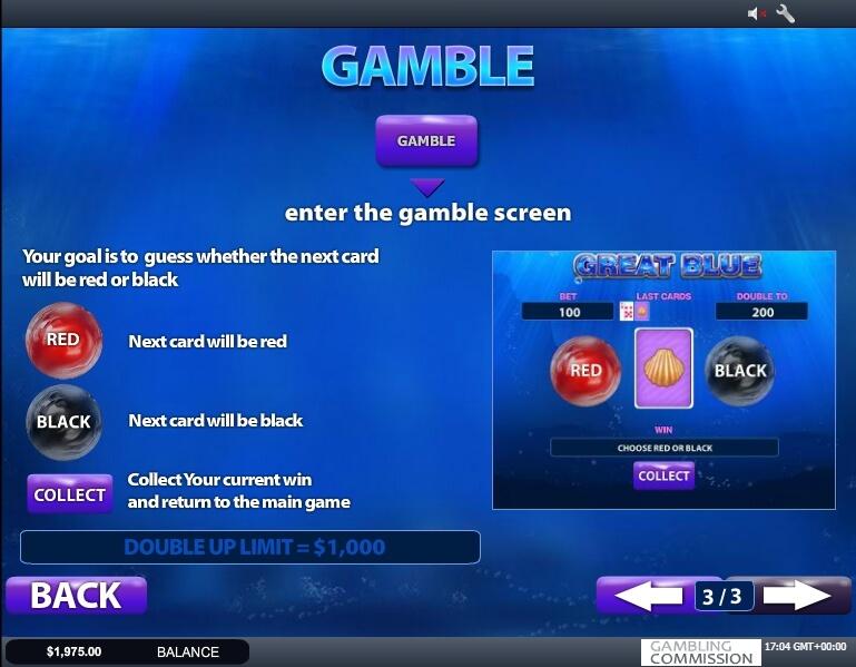 great blue slot slot machine detail image 0