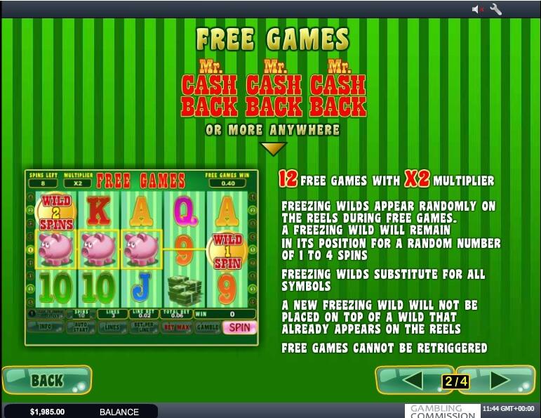 mr. cashback slot slot machine detail image 2