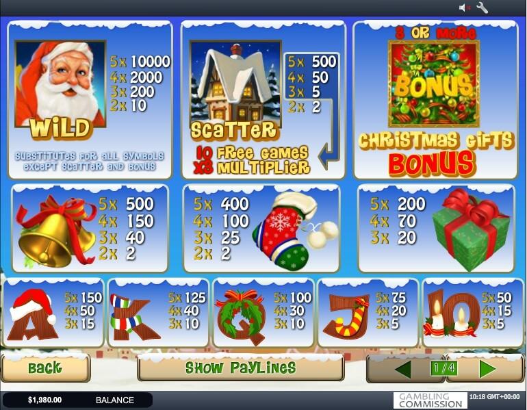 santa surprise slot slot machine detail image 1