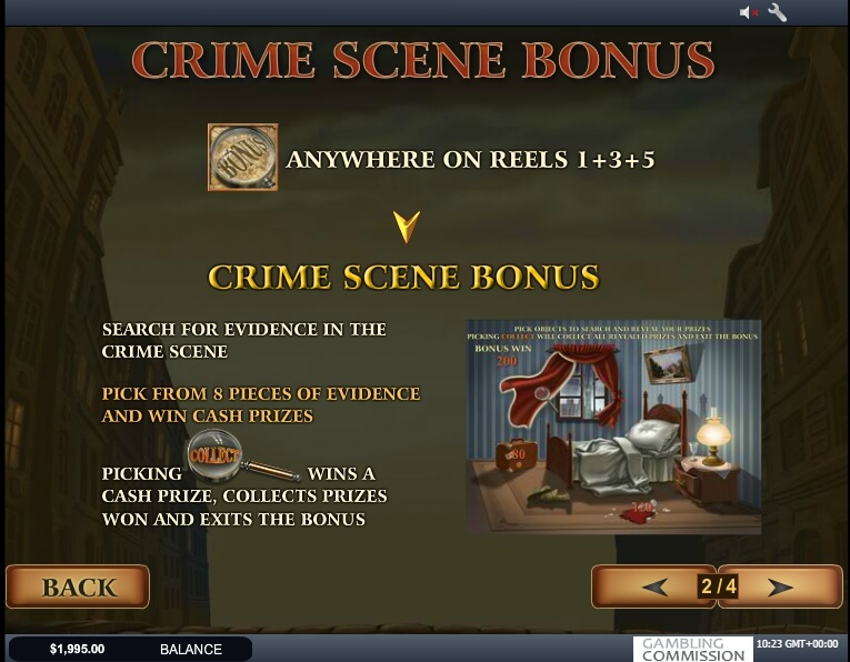 sherlock mystery slot machine detail image 3