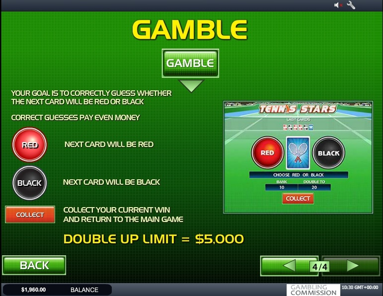 tennis stars slot machine detail image 3