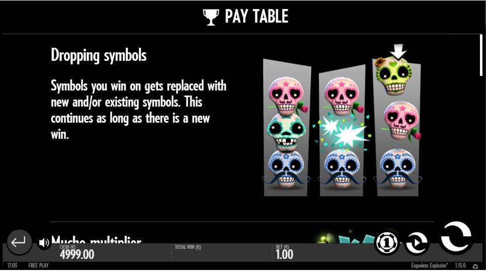 esqueleto explosivo slot slot machine detail image 0