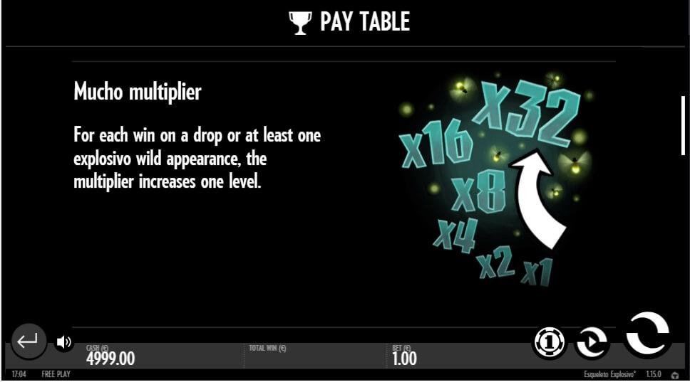 esqueleto explosivo slot slot machine detail image 5