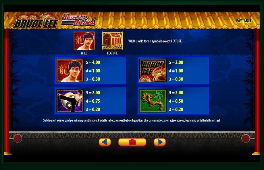 bruce lee slot slot machine detail image 3